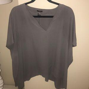 Grey slouchy/oversized blouse